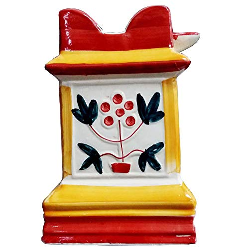 Sharvgun Handgemachte Keramik/Ton Brindavan/Tulasi/Tulsi Topf/Tulsi Pflanze Container Indoor-Outdoor Pflanzer (Multi Color)
