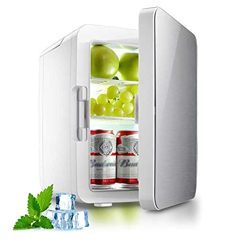 Mini Nevera portátil,refrigerador de Potencia de 10 litros AC/DC y refrigerador Personal más cálido para Cuidado de la Piel,Almacenamiento de Maquillaje, Comida, Ideal para Dormitorio, automóvil