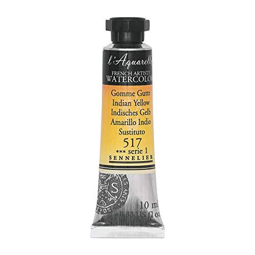 Sennelier l'Aquarelle Watercolor Tubes 10ml - Indian Yellow 10ml Tube