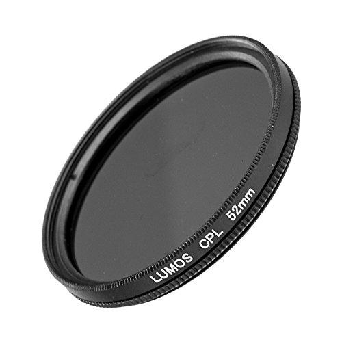LUMOS Premium Polarisationsfilter - 52mm – Lichtdurchlässiges Glas – 2-teilige Metallfassung - Polfilter 52 mm– schlankes Slim Design