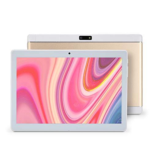 Haehne 10.1 Pollici Tablet PC, 3G Phablet, Google Android 8.1 Quad Core, 2GB RAM 32GB ROM, 1280*800 HD, Doppia Fotocamera, 4500mAh, WiFi, Bluetooth, per Bambini e Adulti (Oro)