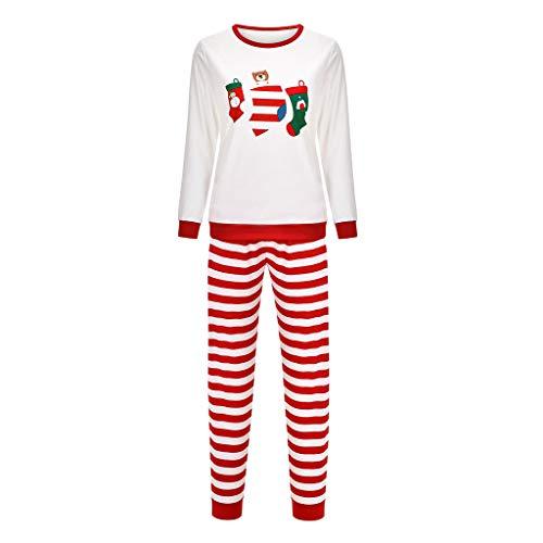 Hniunew Weihnachten Nachtwäsche Familien Vater Mutter Kinder Schlafanzug...