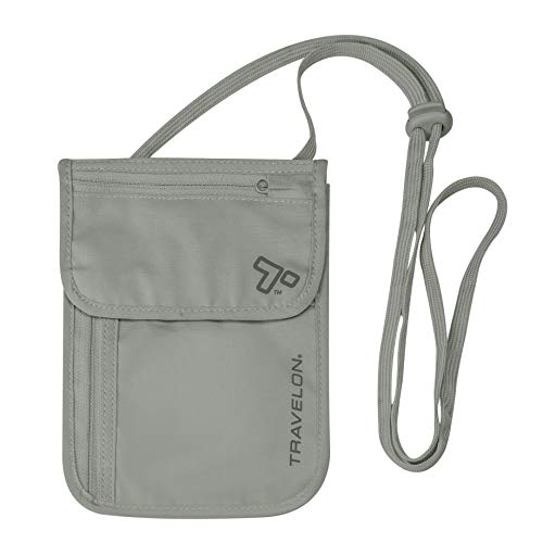 Travelon RFID Blocking Undergarment Neck Pouch, Gray