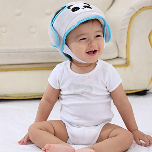 AIPINQI Toddler Head Protector Gray Baby Safety Helmet Adjustable Infant Helmet Baby Protective Helmet Baby Head Cap Breathable Headguard for Baby Learn to Walk