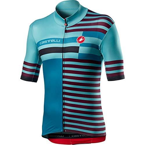 castelli Herren Mid Weight Pro Jersey Shirt, himmelblau, XL