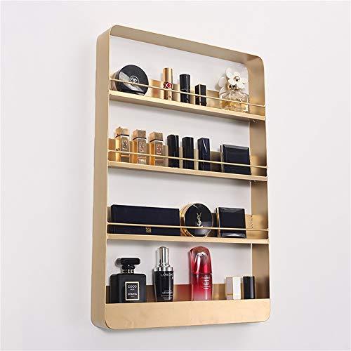 Lisun Nordic Wall Nail Parfüm Gold Regal Kosmetik mehrschichtige Wand Lippenstift Hautpflegeprodukte Schmiedeeisen-Schrank