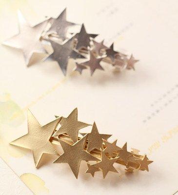 『シューティングスター 流れ星 バレッタ 髪飾り ゴールド』の1枚目の画像
