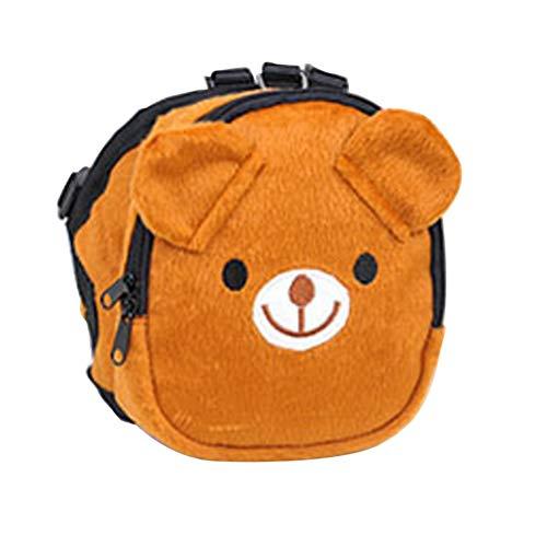BUYITNOW Cute Pet Backpack Harness Travel Outdoor Hiking Adjustable Leash Saddlebag