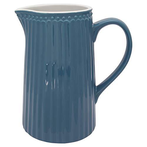 Greengate - Krug, Karaffe, Jug - Alice - Porzellan - ocean blue - 1 l