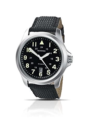 Sekonda Men's Other Quartz Watch with Textile Strap, Black, 10 (Model: 3347)