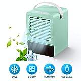 Portatile Air Cooler Nessun Rumore Condizionatore Mini Cooler Fan con 3 Velocità per Home Office...