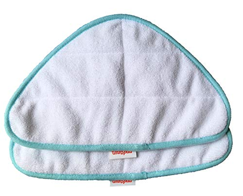 Unispair - Confezione di 2 panni in microfibra per pulitore a vapore H2O HD e ricarica Lite