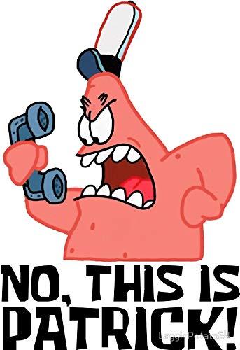 LA STICKERS No, This is Patrick! - Spongebob - Sticker Graphic - Auto, Wall, Laptop, Cell, Truck Sticker for Windows, Cars, Trucks