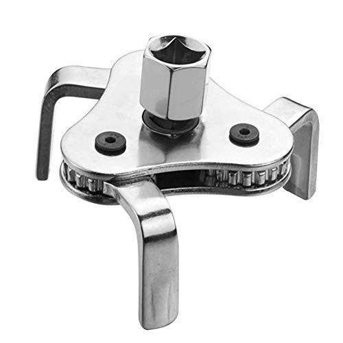 Holoras Verstellbarer Ölfilterschlüssel, 3-Backen-Ölfilterentfernungswerkzeug, Reichweite 6,4 cm bis 10,9 cm.