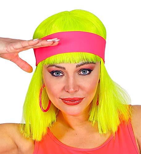 shoperama 80er Jahre Neon Stirnband 80`s Trash Kostüm-Zubehör Aerobic Gymnastik Sport, Farbe:Pink