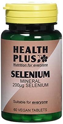 Health Plus Selenium 200µg Mineral Supplement - 60 Tablets by Health + Plus Ltd