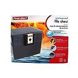 First Alert 2037 - Caja de seguridad para documentos (resistente al fuego durante 30 min y al agua, 17,5 L, con llave)