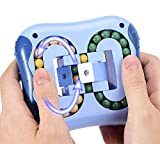 Stress Relief Intellectual Toy Magic Beans Game Magic Fidget Cube Hand-Eye Coordination Improve Intelligence Brain Teasers Relaxing Toys for Kids Adult (Blue)