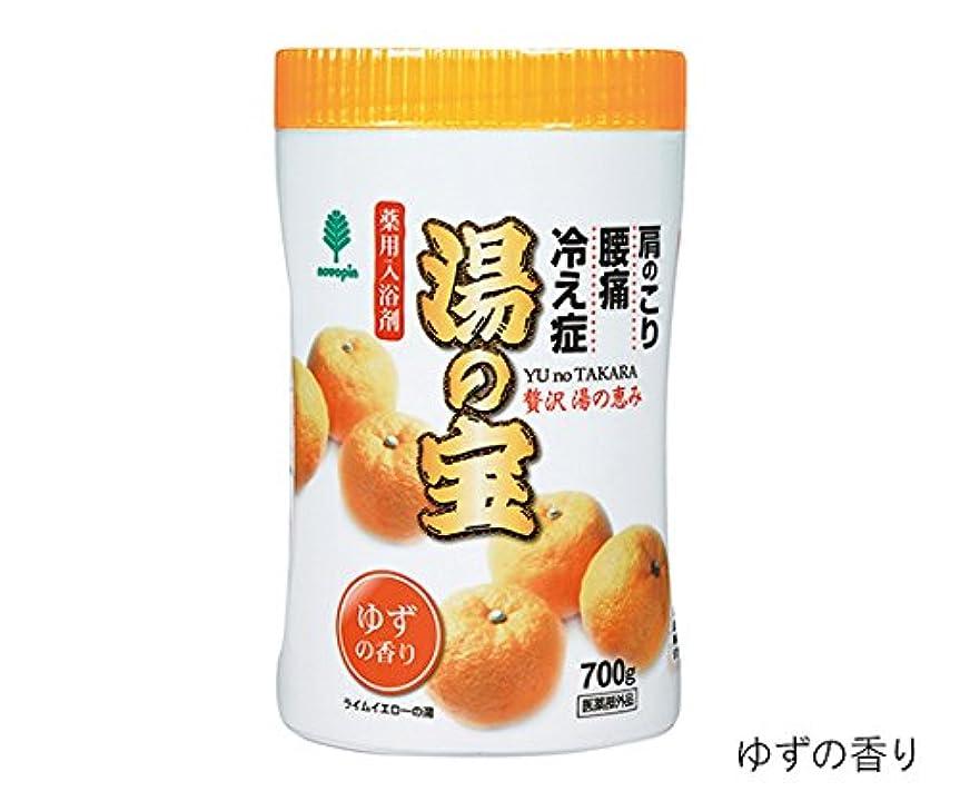 輝く空思春期の紀陽除虫菊7-2542-01入浴剤(湯の宝)ゆずの香り700g