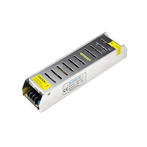 Xligo 12 V 10 A 120 W interruptor fuente de alimentación del conductor conmutación de voltaje transformador AC 220 V entrada a DC 12 V para tira de luz LED cinta