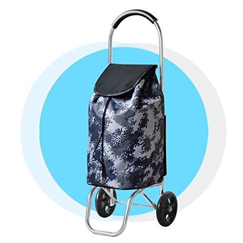 LQBDJPYS Leggero Shopping Trolley a 2 Ruote in Alluminio Pieghevole Carrello for valigie shoppy (Color : Camouflage)