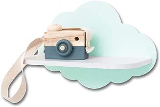 graue Wolke grau Wolke : 30 x 20 x 1 cm Wandregal Kinderzimmerregal Regal Kinderregal Aufbewahrungsregal Wandboard Kinderzimmer Babyzimmer Ma/ße Regalfl/äche 28 x 11 x 1 cm