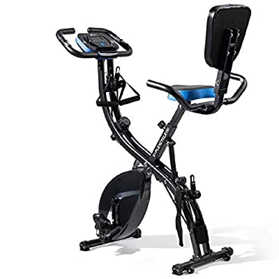 LifePro 3 in 1 Recumbent Stationary Bike with Arm Resistance, Pulse Sensors, Adjustable Tension - Upright/Recumbent/Folding Exercise Bike for Seniors, Men, Women - Indoor Home Fitness Equipment