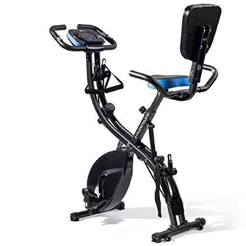 LifePro 3 in 1 Recumbent Stationary Bike with Arm Resistance, Pulse Sensors, Adjustable...