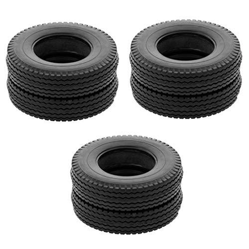 koolsoo 6X Cubierta de Neumáticos de Goma para 1/14 RC Crawler Buggy Trailer Car