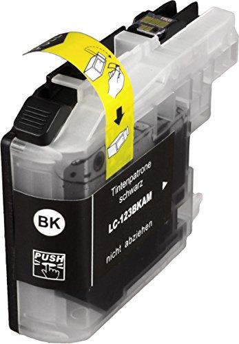 Brother LC123BKBP - Cartucho de tinta negro original (duración estimada: hasta 600 páginas, según ISO/IEC 24711)