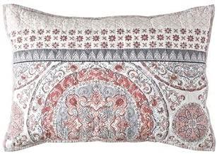 Sunham Home Fashions Toren Reversible Standard Pillow Sham in Coral