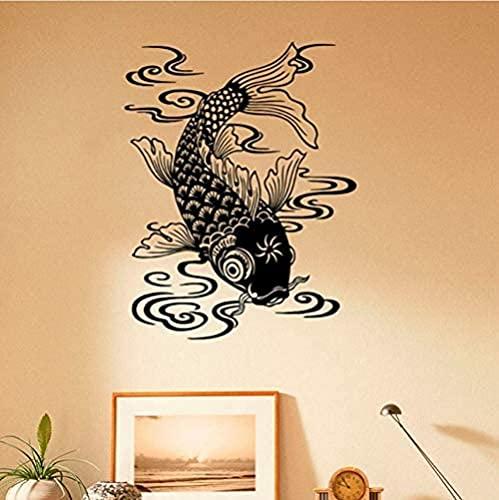 41x52 cm hermoso diseño pez pared calcomanía océano pez vinilo mar animal arte pared pegatina impermeable artista decoración del hogar