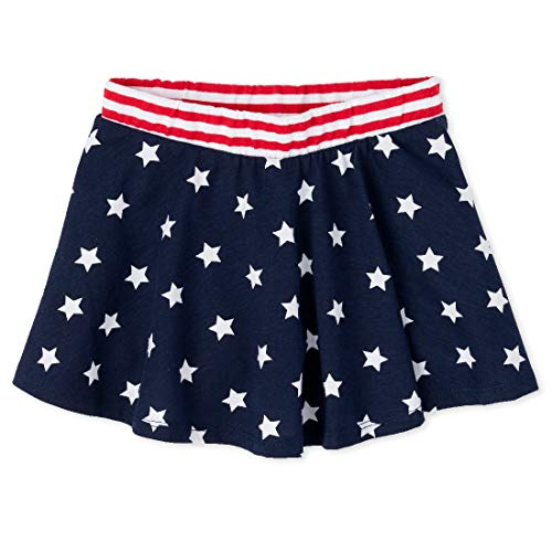 The Children's Place Baby Girls' Americana Skort, Tidal, 5T