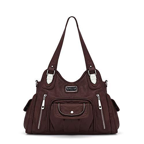 Scarleton Satchel Handbag for Women, Purses for Women, Ultra Soft Washed Vegan Leather Crossbody Bag, Shoulder Bag, Tote Purse, H1635