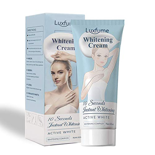 NUIBO Whitening Cream, 10 Seconds Instant Whitening Effective for Armpit, Knees, Elbows, Sensitive and Private Areas, Nourishes, Moisturizes, & Repairs Skin Lightening Cream.