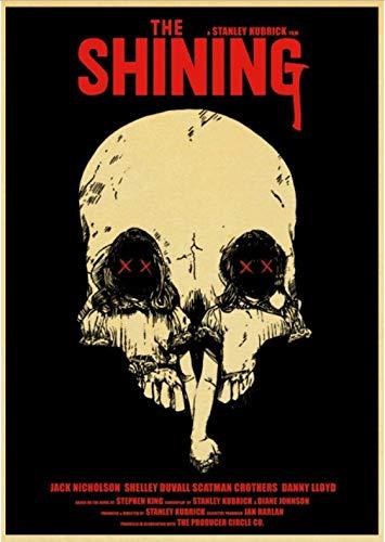 SGDDGF Horrorfilm The Shining Poster Print malerei Poster Home Dekorative DIY Wandaufkleber Home Bar Kunst Poster Decor 42 * 30 cm Rahmenlose