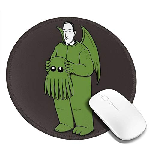 7.9x7.9in Monster Afhalen Masker Ronde Muis Pad Bureau Toetsenbord Mat Grote Muis Pad Voor Computer Desktop Laptop