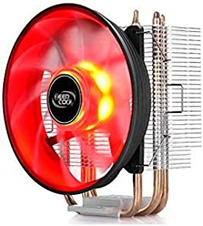 DeepCool GAMMAXX 300, disipador para procesador CPU AMD y Intel (3Heatpipe, Ventilador PWM 120x 25mm LED Red, Socket AM4/AM3+/FM2/FM1/AM2/ryzen/Athlon/i7/Pentium/Celeron