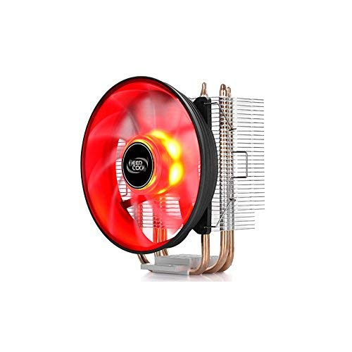 DeepCool GAMMAXX 300, processor CPU koeler voor AMD en Intel, 3 Heatpipe, ventilator PWM 120 x 25 mm LED Red, Socket AM4/AM3 +/FM2/FM1/AM2/Ryzen/Athlon/i7/XP/Celeron