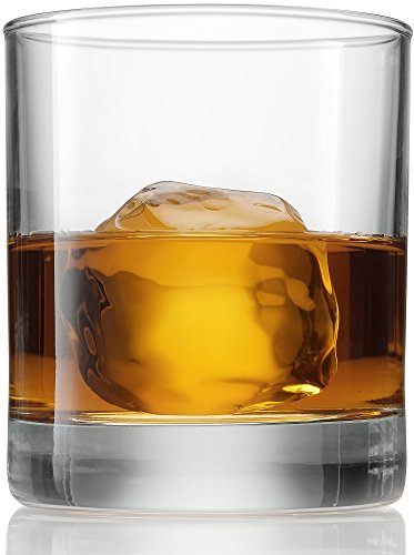 Bormioli Rocco Old Fashioned Whiskey Glasses - 8.5 Ounce - [6 Piece Set] Italian Crafted classic Design Weighted Bottom, Bar Glass, for Wine, Scotch, Bourbon, Cocktails, Juice, and Water