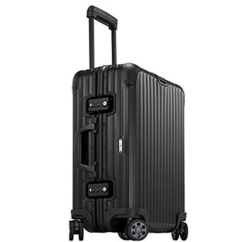 Find Bargain Rimowa Topas Stealth Luggage IATA 21 Inch Multiwheel 32L Suitcase - Matte Black