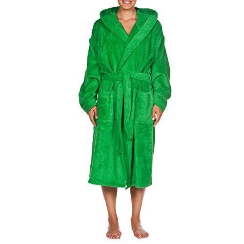 Arena Core Unisex Soft Robe, Erwachsene, Grün, Weiß, S
