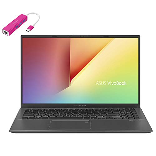 ASUS VivoBook 15 15.6' FHD Laptop Computer, AMD Quad-Core Ryzen 7-3700U up to 4.0GHz (Beats i7-8565U), 8GB DDR4 RAM, 1TB PCIe SSD, AC WiFi, Webcam, Windows 10, iPuzzle Type-C HUB, Work from Home