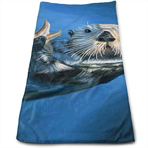 LALOPEZ Sea Otter Multi-Purpose Microfiber Towel Ultra Compact Super Absorbent and Fast Drying Sports Towel Travel Towel Beach Towel Perfect for Camping, Gym, Swimming.