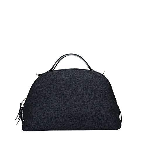 Borbonese Sexy Bag, Borsa a Mano Donna, Nero, 36x24x16 cm (W x H x L)