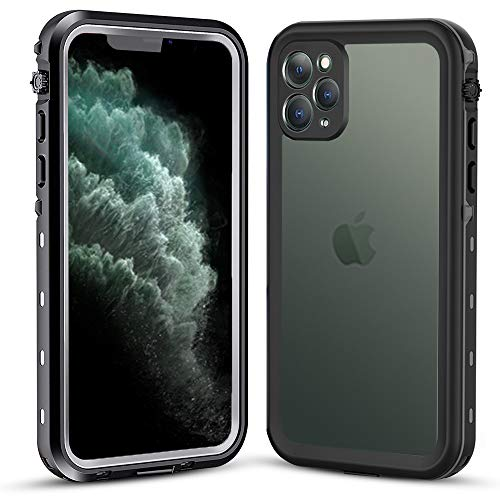Waterproof Case for iPhone 11 pro, Vcloo Fully Sealed Snowproof Shockproof Dustproof Dirtproof Underwater Cover Rugged Heavy Duty Clear IP68 5.8""