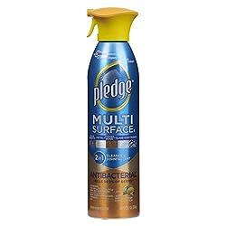 Pledge Multi-Surface Spray Antibacterial Wood Polish, Citrus, 9.7 Ounce