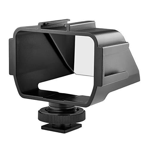 H HILABEE Montaje de micrófono de cámara, Espejo de Selfie 3 Zapata fría para micrófono LED Luz de vídeo Flash vlogg Live Stream Accesorio de fotografía para