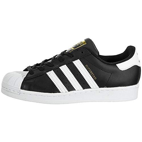 adidas Originals Superstar, Zapatillas de Gimnasio Mujer, Core Negro Blanco Oro Metálico, 38.5 EU