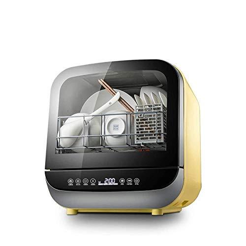 Qin Lavavajillas, Acero Lavavajillas portátil Compacto encimera lavavajillas de Acero Interior de la Pequeña Apartamento Oficina y Hogar Cocina, 5 Procedimientos de Limpieza calificados